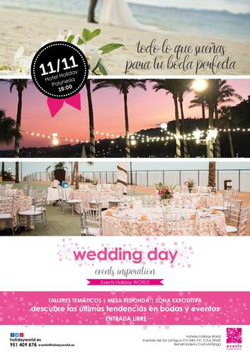 Ven a nuestro Wedding Day con las últimas tendencias en bodas Holiday World Resort