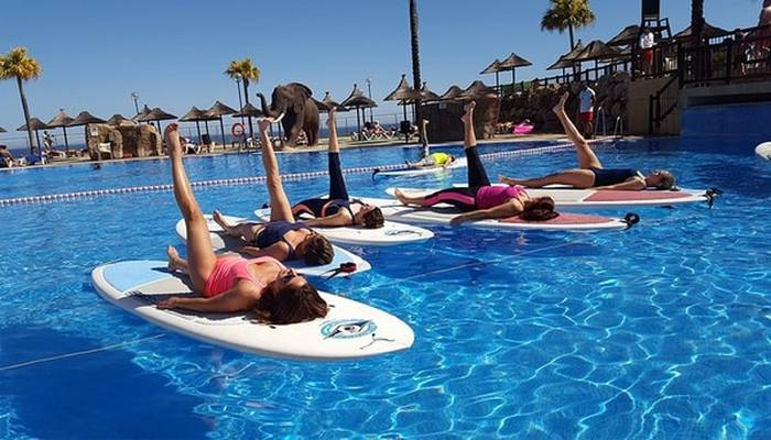 Clases Pilates SUP  Planes Holiday World